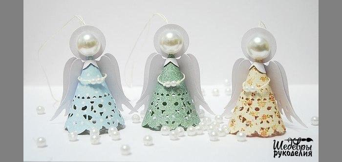 Ангелочки на елку своими руками с бумаги