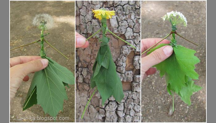 Поделка своими руками из веток листьев шишек