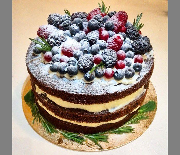 Открытые торты с ягодами рецепты