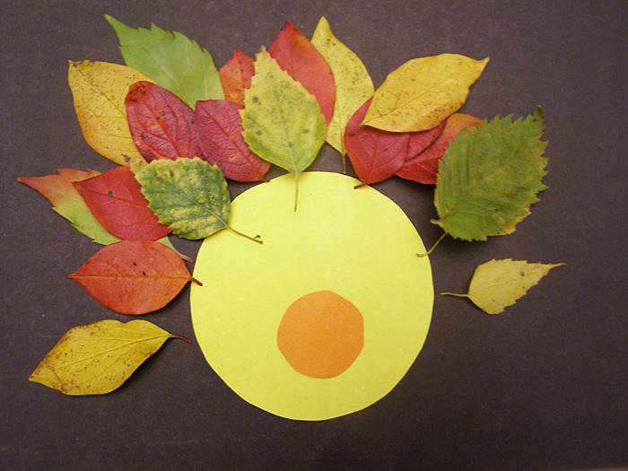 Поделка из осенних листьев