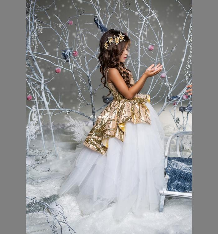 Платье принцессы для новогоднего бала