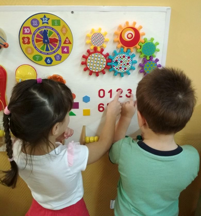 Бизиборд в детском саду