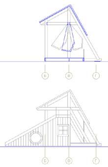Фасад и разрез детской площадки