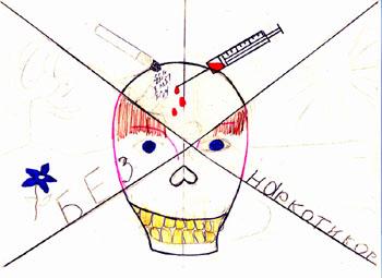Парень рисунок детский