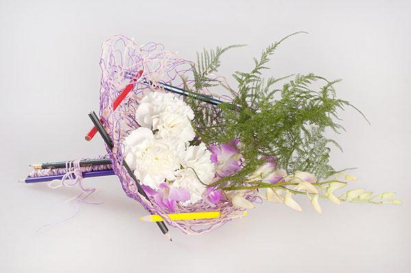Как оформить цветы к 1 сентября